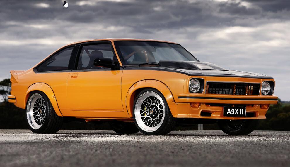 A9X Holden LX Torana Hatchback Marks Workshop